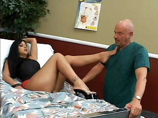 Sweet leggy mistress humiliates this old dude
