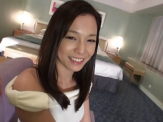Lucky man seduced by a cock craving brunette Asian woman