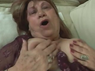 Veteran granny is still a naughty whore who likes to get banged by young cock