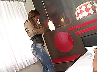 Cris Lira is a hot chick who cannot resist a man's prick