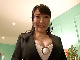 Busty Japanese babe spreads to have her copher penetrated deep