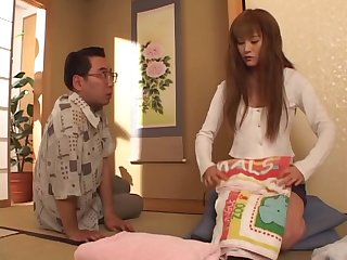 Stacked Japanese wife comes home and gets fucked by her man