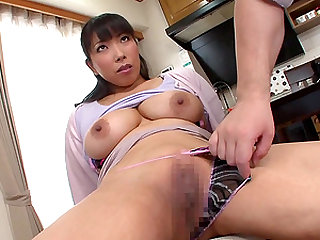 Nozomi Mikimoto is a busty housewife whose body is all a guy craves