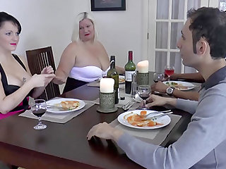 Famous busty mature blonde Lacey Starr in hard glorious groupsex