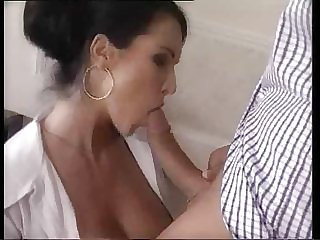 teacher in stockings fucks a father