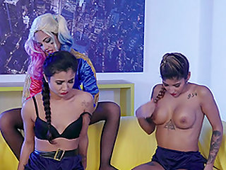 Apolonia and Jade have a blast with a naughty lesbian chick