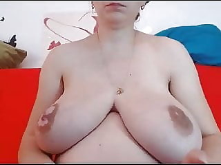 Lovely Pregnant Webcam Girl with Massive (.)(.) - HOT.