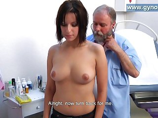 Laura's full body gyno examination by old gynecologist