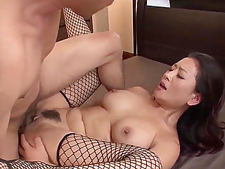 Rei Kitajima gets cream in her sweet japanese pussy