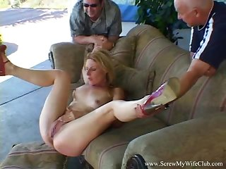 Blonde Wife Turns Into Swinger