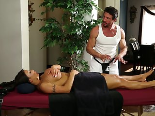 August Taylor finally gets the kind of massage she always wanted