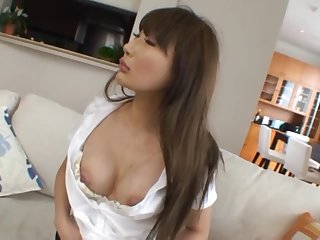 Kinky Japanese Housewife Gets a Good Fuck on the Couch