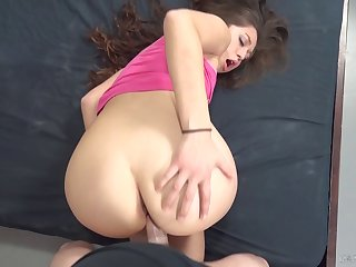Cute long haired girl Shane Blair fucking live